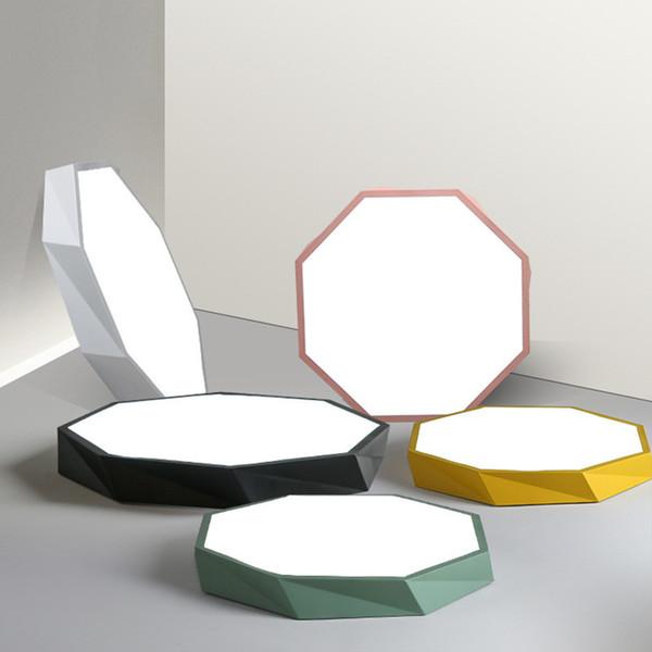 Nordic LED lámpara de techo ultra-delgada en forma de geometría macaron comedor iluminación del dormitorio color creativo lámparas de la sala de estudio en el hogar