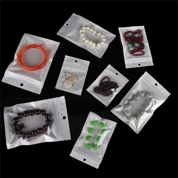 Sacchetto di plastica autosvuotante traslucido Pearlized Bopp Varietà di stili Sacchetti di imballaggio Sacchetto di gioielli in PVC con chiusura lampo Pacchetti retail 0 11wm10 jj