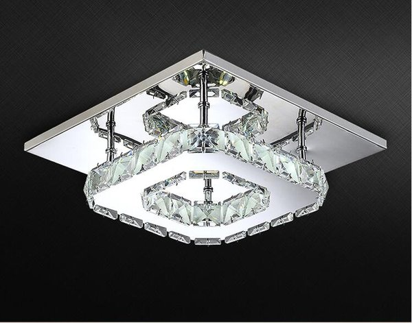 Moderne Lampen 68 : Großhandel moderne led deckenleuchte quadrat kristall glanz