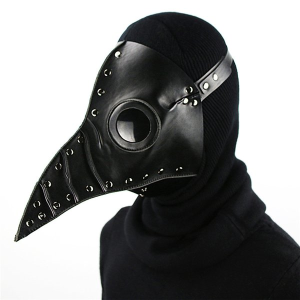 New Arrival Dr. Beulenpest Steampunk Plague Doctor Mask PU Leather Birds Beak Masks Halloween Cosplay Carnaval Costume Props HG074