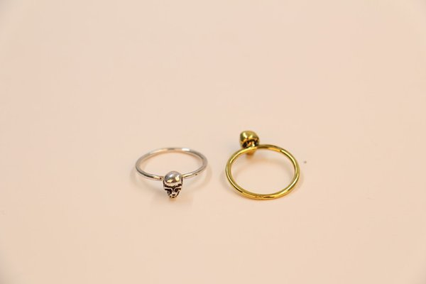 2018 Rngs for girls the latest elements Fashion a single skull rings, antique style of rings for women wholesale and mixed color