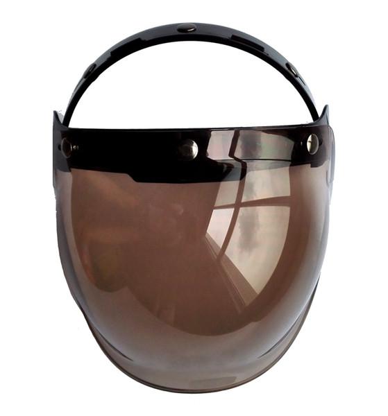 4 Farben Schutz getönte Helm Visier hochwertige offene Gesicht Blase Schild mit Halterahmen
