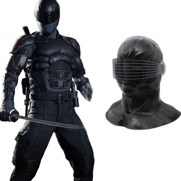 Hanzi_masks HOT!! New Snake Eyes Mask Cosplay G.I. Joe:The Rise of Cobra Mask Halloween Latex Mask Full Head Helmet Costume Props For Party