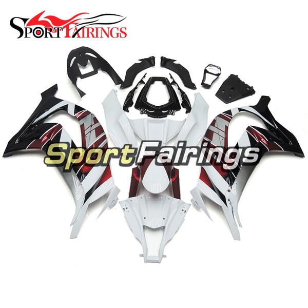 ZX-10R 2012 2013 White Red Black Complete Fairings For Kawasaki Ninja ZX10R 2011 - 2015 13 14 15 Body Kit ABS Plastics Fairing Kit