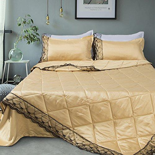 WINLIFE European Style Solide Tencel Summer Cool Quilt Washed Lace Seitenkuschel