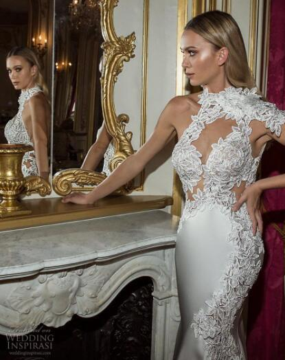 2019 luxury wedding dress high-end Gorgeous wedding dresssThe collars are sexy, bold and charming handmade