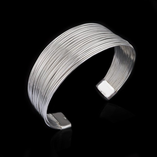 Bulk Lots 925 Sterling Silver Multi Links Bracelats Designer Bracelet Stainless Steel Jewelry Mens Chain Bangles Luxury Jewelry Braccialetto
