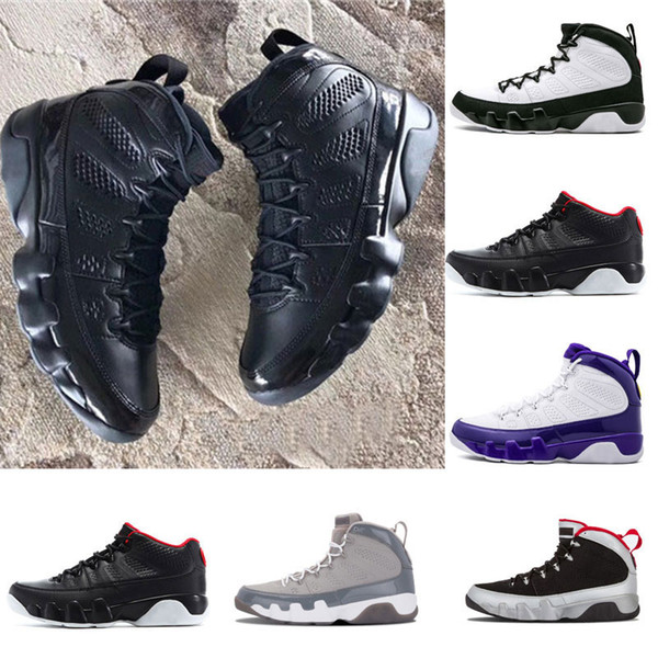 hot sale 9 Bred Men Basketball Shoes 9s IV 9 black Anthracite University red Sports Shoes City Of Flight Sneaker Athletics size 8-13