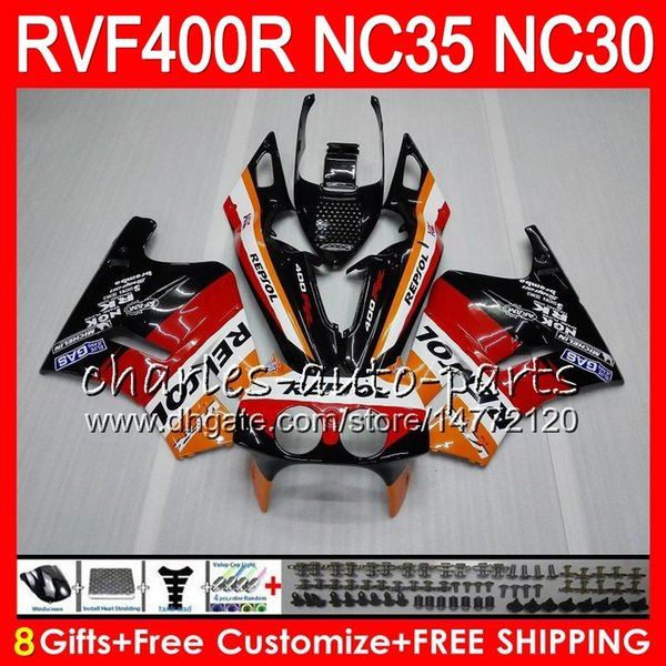 VFR400R For HONDA NC35 V4 RVF400R 1989 1990 1991 1992 1993 82HM.67 RVF VFR 400 R NC30 VFR 400R VFR400 R 89 90 91 92 93 Fairings Hot Repsol