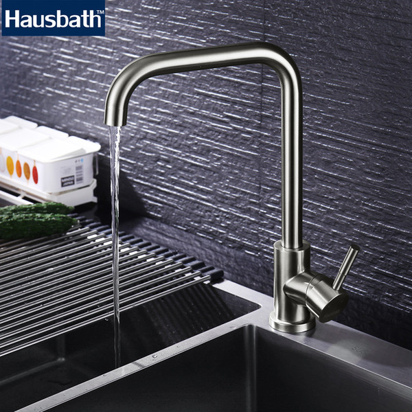 Kitchen Faucet Mixer Tap Sink Stainless Steel Single Handle Rotate Faucets 360 Degree Hot Cold Water Tap Faucet High Quality