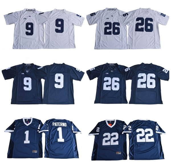 Penn State Nittany Lions 26 Saquon Barkley 1 Joe Paterno 9 Trace McSorley 22 Akeel Lynch NCAA BIG Ten College Football Jerseys