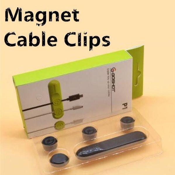 Nuovo 4 colori multifunzione Auricolare Cavo avvolgicavo USB Cable Holder Magnetic Organizer Raccogliere clip Magnet Wire Clamp