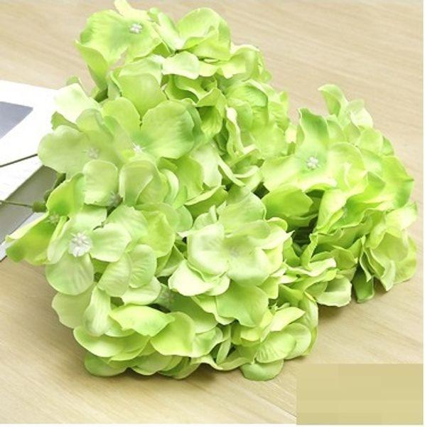 Cabeza de flor de hortensia artificial 47cm Seda falsa Solo toque real 8 colores para centros de mesa Decoración de fiesta en el hogar wn506 200pc