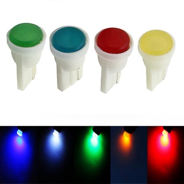 cob led 10pcs T10 5W WY5W Ceramic COB LED Lamp Car Interior Wedge Light Source Instrument Side Bulb White/Blue/Green/Red/Yellow 12V 10X