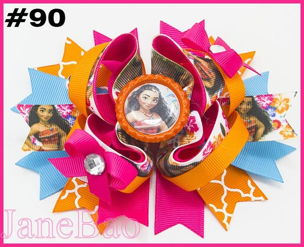 free shipping 2018 Newest 30pcs 5.5'' inspired hair bows popular cartoon bow with lined clips