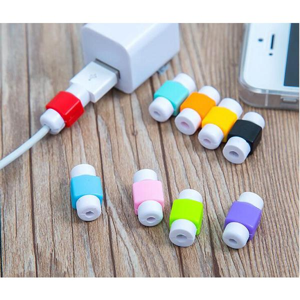 best selling Multi Colors USB Cable Protector Sleeve D2 Mobile Phone Charger Cord Protector Silicone For IPhone Line ProtectiveCellphone Cable Protector