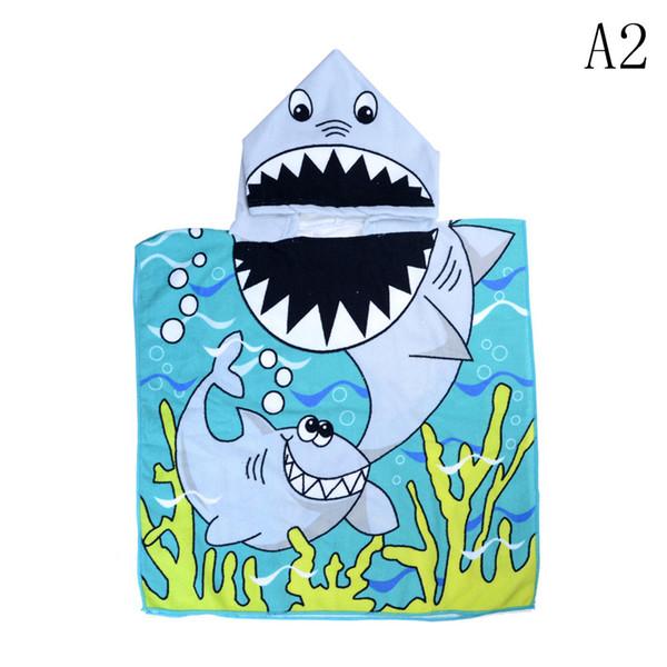 Großhandelskarikatur-Kindermantel-Tuch-Microfiber-Druck mit Kapuze Mädchen-Jungen-notwendige Schwimmen-Strandtücher