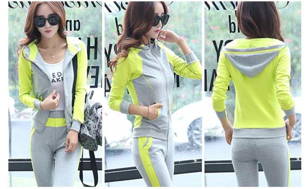 Sports suit female spring and autumn new 2018 leisure suit female autumn dress big size Korean version long sleeve long clothes women l-xxxl