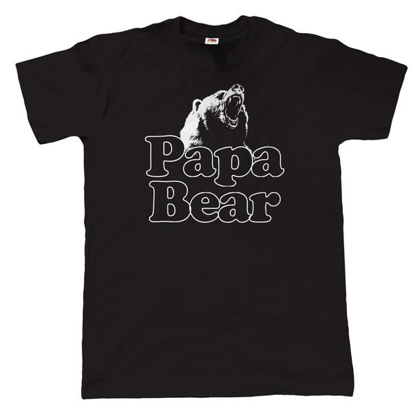 Papa Bar Lustige T Gömlek Kürk Herren-Erkekler için Weihnachten Geschenk Kürk Vater T-Shirt O-Boyun Üstleri Erkek Renk Komik Baskılı