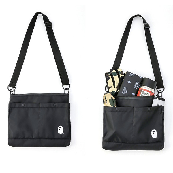2018 Ape Giappone Canvas Tote Bag Outdoor Pack Computer Bag Messenger Borse Fitness Stuff Sacchi Deposito Scuola Messenger Aape