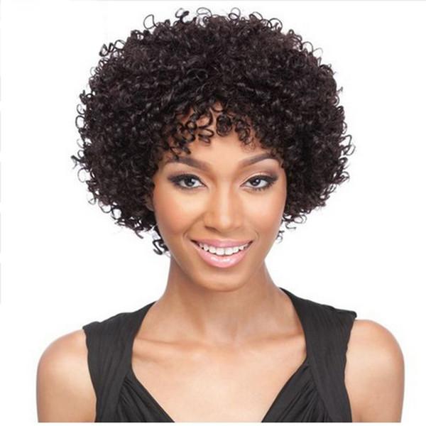 Büyük Stokta yeni yumuşak kısa bob sapıkça kıvırcık Brezilyalı saç Simülasyon insan Saç Peruk Kısa Bob kıvırcık Peruk
