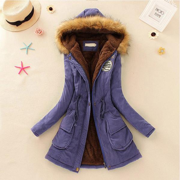Promotions 2018 Fashion Autumn Warm Winter Fur Collar Coats Jackets for Women Women's Long Parka Plus Size Parka Hoodies