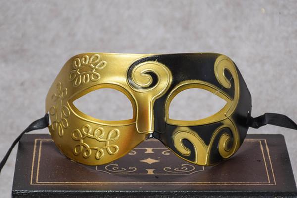 Roman Gladiator Mask Half Faces Mask Venetian Mardi Gras Masquerade Halloween Costume Mask for Party Cosplay NightClub