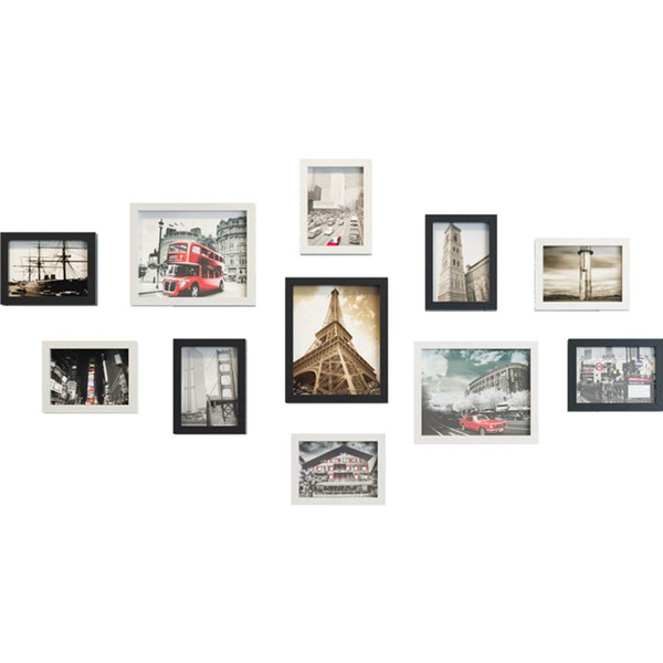Photo Frame Wall Set, Gallery Wall Frame Set,Home and Wall Decorations (Color : Black and White)