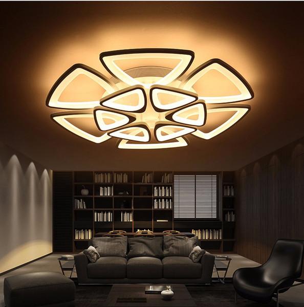 Modernas luces de techo de acrílico, control remoto, dormitorio de la habitación luces de techo modernas led luminarias para sala de atenuación deckenleuchten