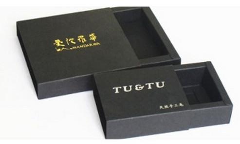 Factory outlets drawer kraft paper boxes Black card gift Packing boxes Printable logo belt boxes Inner diameter dimension6.5 * 6.5* 3CM