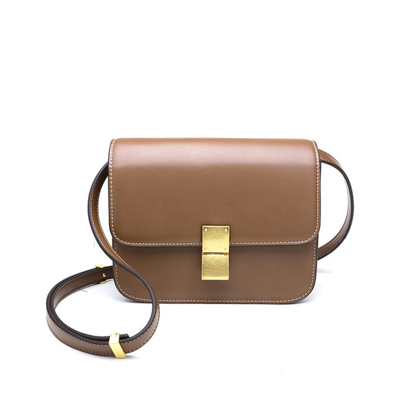 High quality cover handbags Women Message Bags High Quality Cowhide PU Leather Crossbody Bags Women Flap Chains Shoulder Bag