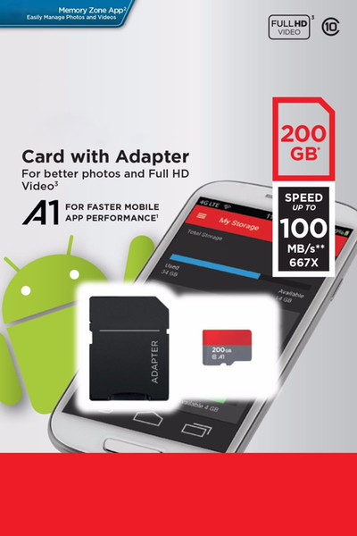 Ultra A1 256GB 200GB 128GB 64GB 32GB Micro SD SDHC Card 98MB/s 100MB/s UHS-I C10 SDXC Card with Adapter