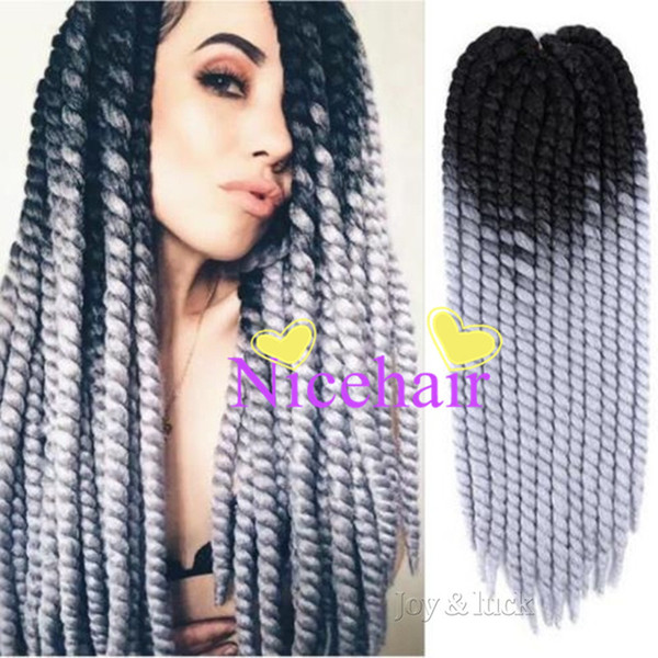 """22"""" Havana Mambo Twist Crochet Braids 20 kinds of Different Colors Solid Color and Ombre Colors Synhtetic Hair Extentions"""