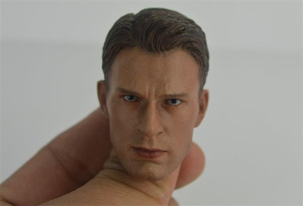 Hot sell Toys 1/6 Scale Head Sculpt For Captain America Kitbash for 12 Action Figure doll Toys soldier model