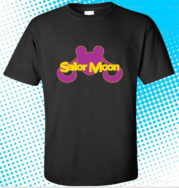 2018 Summer Style New Sailor Moon Logo Anime Japan Men's Black T-Shirt Size S to 3XL O-Neck Short-Sleeve T Shirts