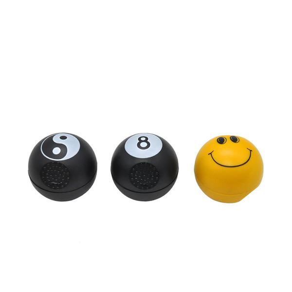 Black 8 football billiard ball golf smiling face plastic smoker light type smoke breaker
