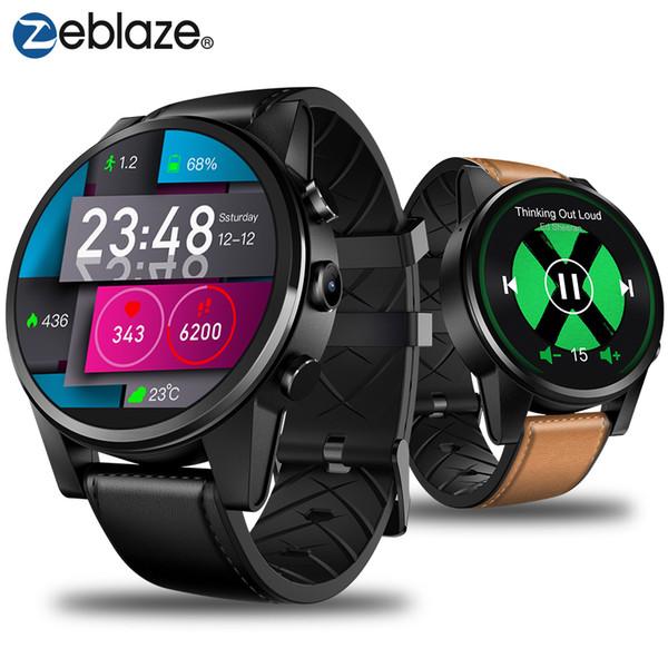 Zeblaze THOR 4 PRO 4G SmartWatch 1.6 polegada Display de Cristal GPS / GLONASS Quad Core 16 GB 600 mAh Correias De Couro Híbrido Relógio Smat Homens
