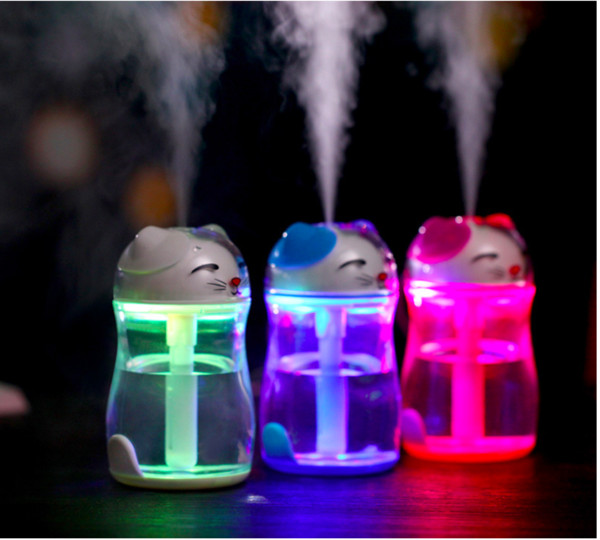 Lovely Fortune Cat Aromatherapy Humidifier Mini Desktop Air Humidifier Diffuser USB Automatic Power-Off Mist Maker Fogger For Home