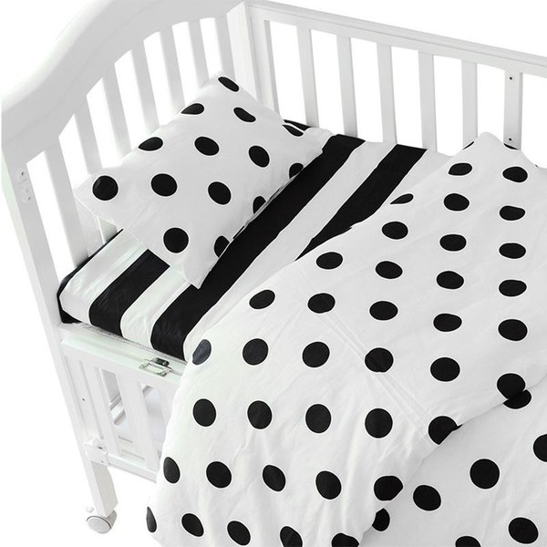3pcs/set Ins crib bed linen,baby Beddingset(pillow case+bed sheet+duvet cover without filling) Size Within 130*70cm