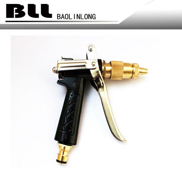 Multi Function Brass Adjustable Copper Hose Spray Nozzle Gun Garden Hose Water Pressure Guns For Garden Watering Cars Vehicles Washing