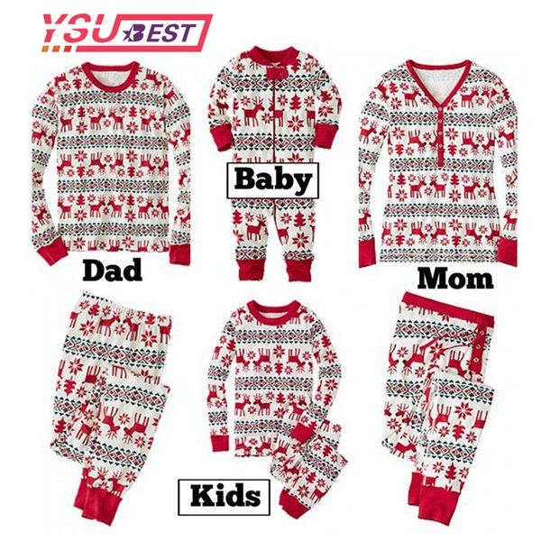 New Family Christmas Pajama Family Matching Clothes Matching Mother Daughter Clothes Fashion Father Son Mon New Year Look