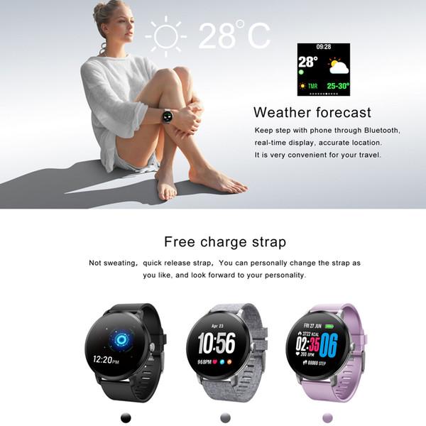 V11 Smart watch IP67 impermeabile Vetro temperato Activity Fitness tracker Monitor per la frequenza cardiaca BRIM Uomo da donna smartwatch