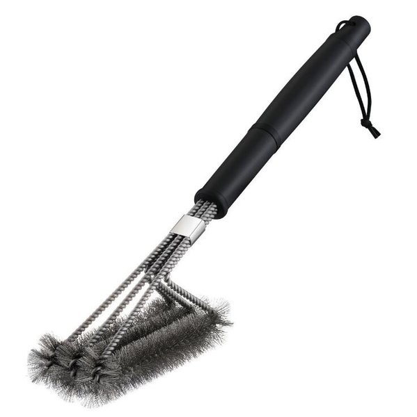 "BBQ Cleaning Brushes BBQ Grill Brush Scraper 18"" Stainless Steel Barbecue Long Handle Cleaner Durable Cooking Brushes Cleaning Tool"