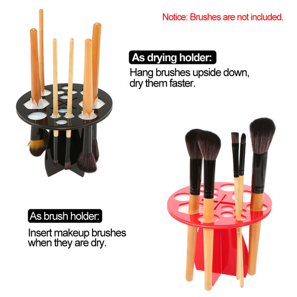 top popular Toothbrush Oval Makeup Brushes Display holder Cosmetic Organizer Brush Tower Tree Plastic Round Acrylic Holder Stand 14 Hole 2019