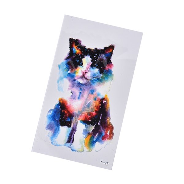 Cute Cat Temporary Fake Face Sticker Make Up Masquerade Tattoo Stickers Body Art Tools Waterproof Cat Disposable Stickers