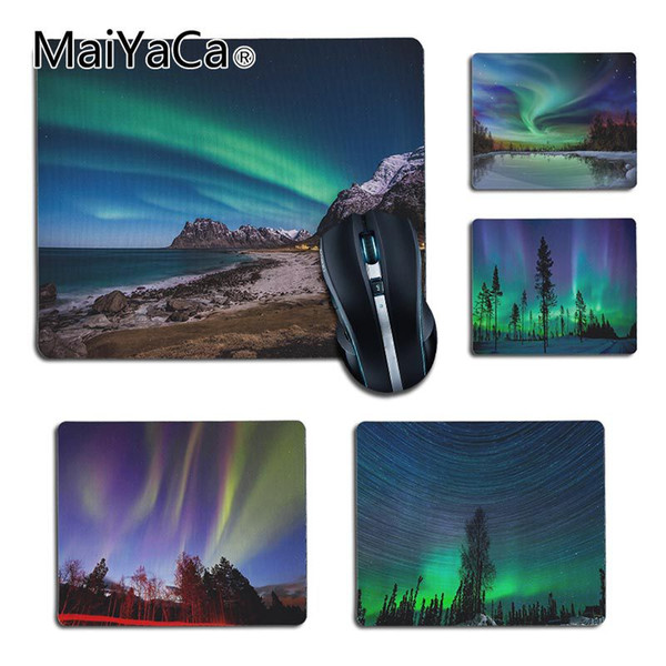 MaiYaCa My Favorite aurora Starry sky gamer tapetes de juego Alfombrilla de ráton de goma anime Gaming Pad mouse Gamer To Laptop Keyboard