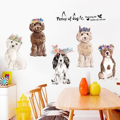 Wholesale 150*60cm Fancy of Dogs Wall Stickers Wallpaper Paper Peint 3d Home Decor Bathroom Kitchen Accessories Household Suppllies
