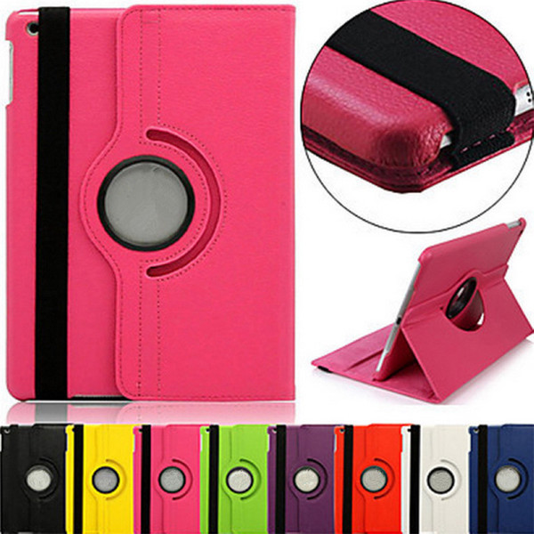 PU Leather 360 Degree Rotating Multi-angle Stand Folio mart Wake Up Sleep Case For Apple iPad 2 3 4 mini 1 Air Pro