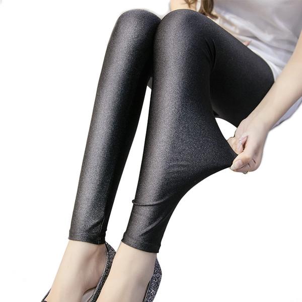 2018 Polyester Casual Leggings For Women High Elastic Material Black Fiteness Pencil Leggins Pants Streetwear Legging Plus Size