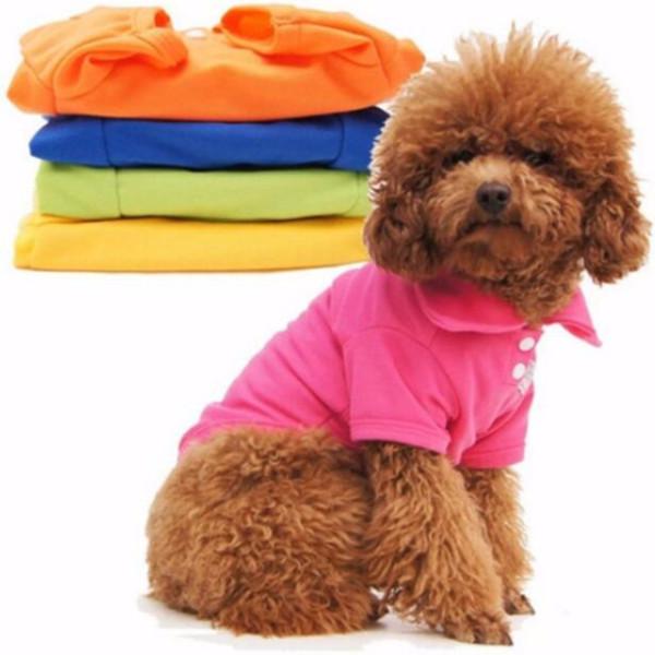 perro del algodón ropa de seguridad doméstico de la capa del chaleco de peluche ropa del perrito ropa para mascotas polosingle chaqueta sólida mascota suave y cómodo